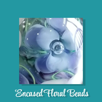 Encased Floral Beads