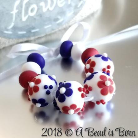 Patriotic Flower Beads