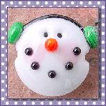 Snowmen Lentils (Horizontal Holes)