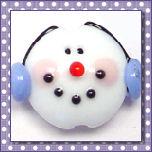 Snowmen Lentils (Vertical Holes)